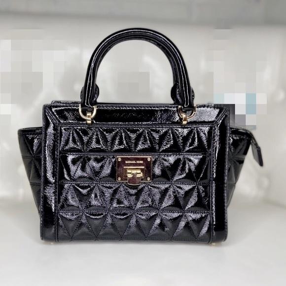 ✨sold✨Michael Kors patent lather satchel